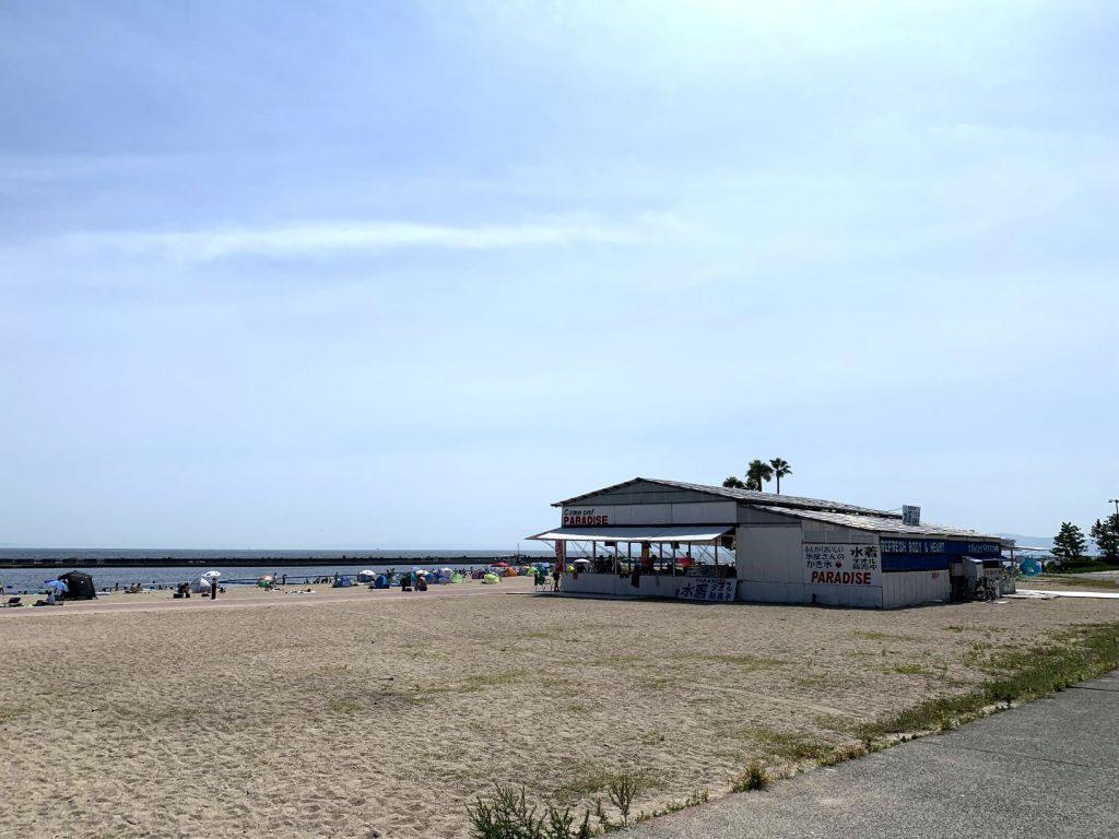 2020年中止となった須磨海水浴場