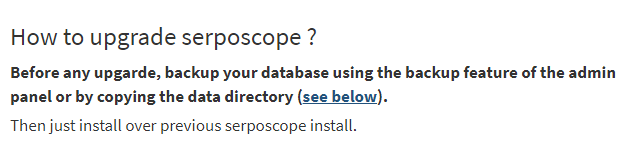 SERPOSCOPE公式ページのFAQ