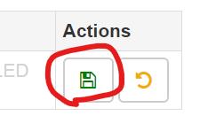 Modify Headers for Google Chrome行の保存ボタン