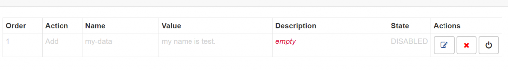 Modify Headers for Google Chrome行の保存ボタン押した後