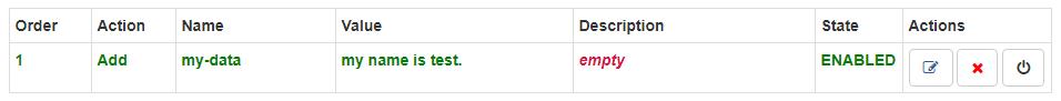 Modify Headers for Google Chrome行の設定反映完了