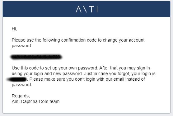 Anti Captchaパスワード変更時に送信されるメール