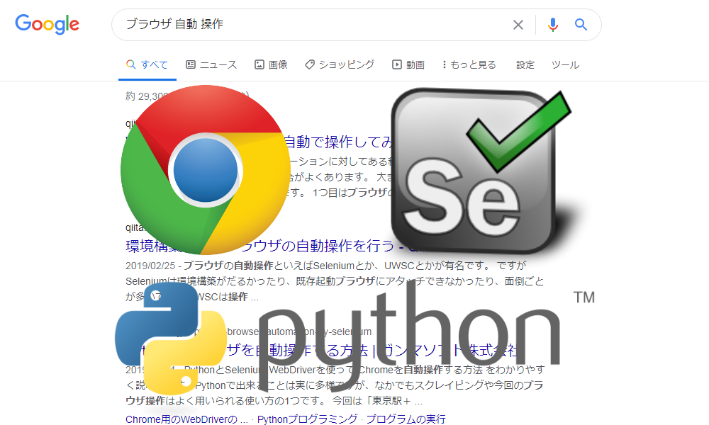 PythonでChromeDriverによりSelenium操作