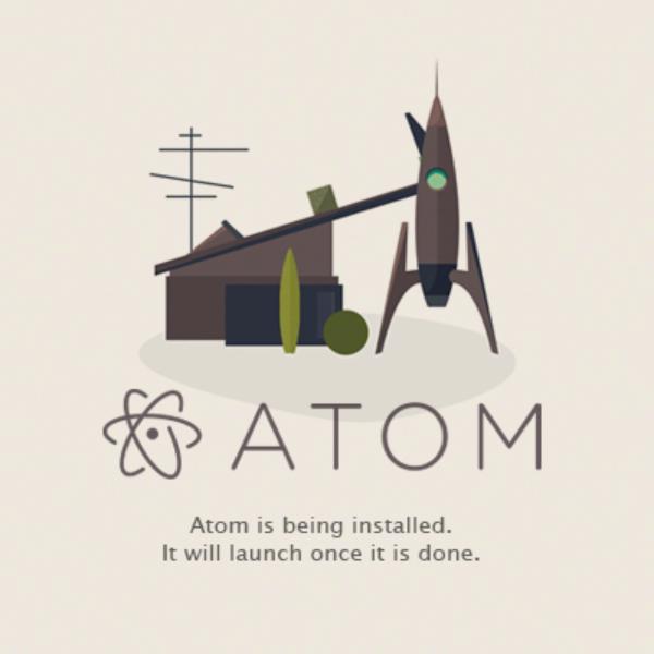 Atomインストール開始