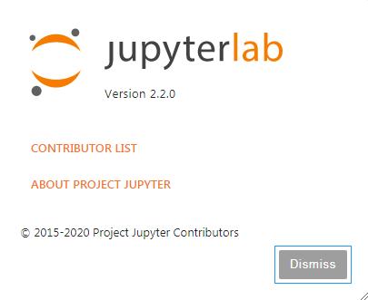 JupyterLab最新バージョン2.2.0