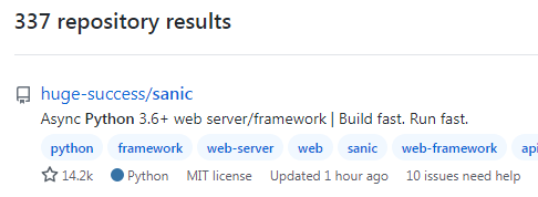 Python Sanic