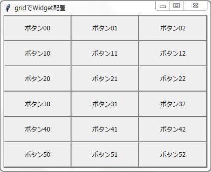 gridによるWidget配置