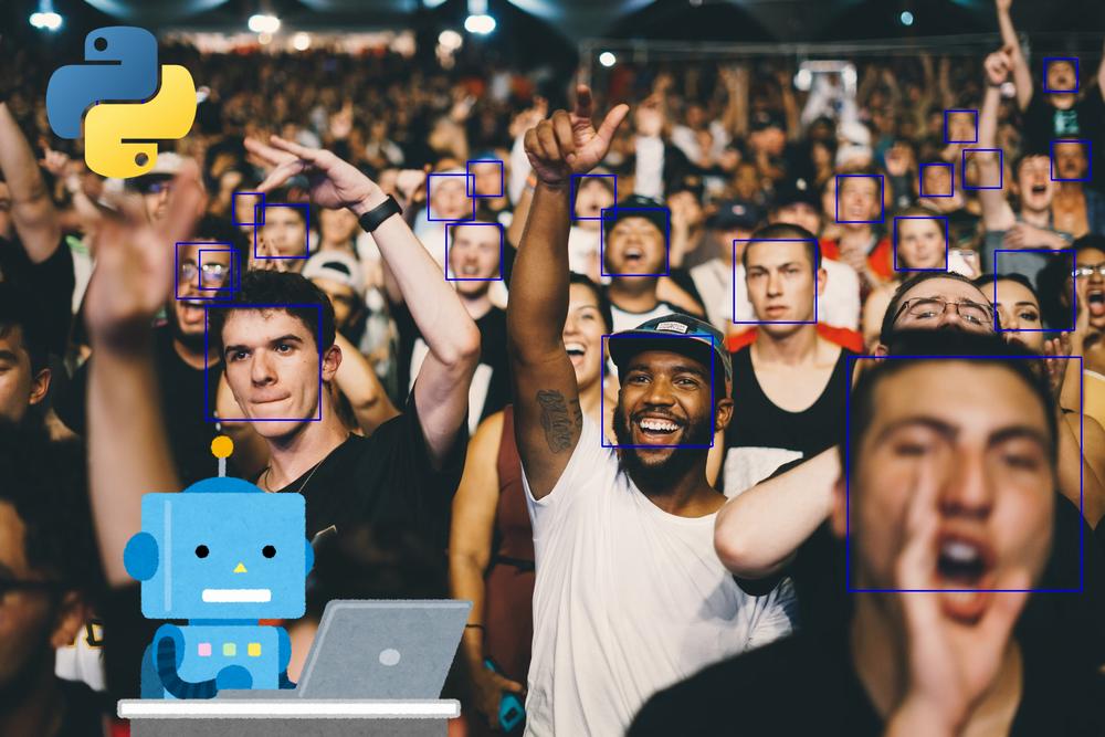 OpenCVで顔認識・顔検出を簡単に行う方法【Python】