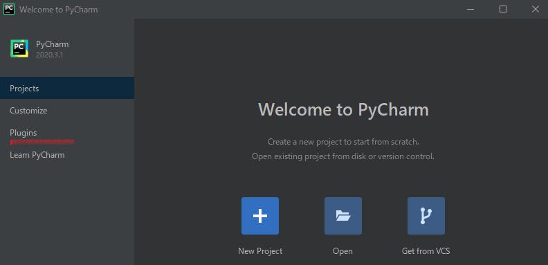 PyCharm起動