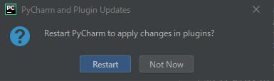 PyCharmの再起動