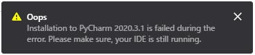 PyCharmのPluginsのWebページからのインストール失敗