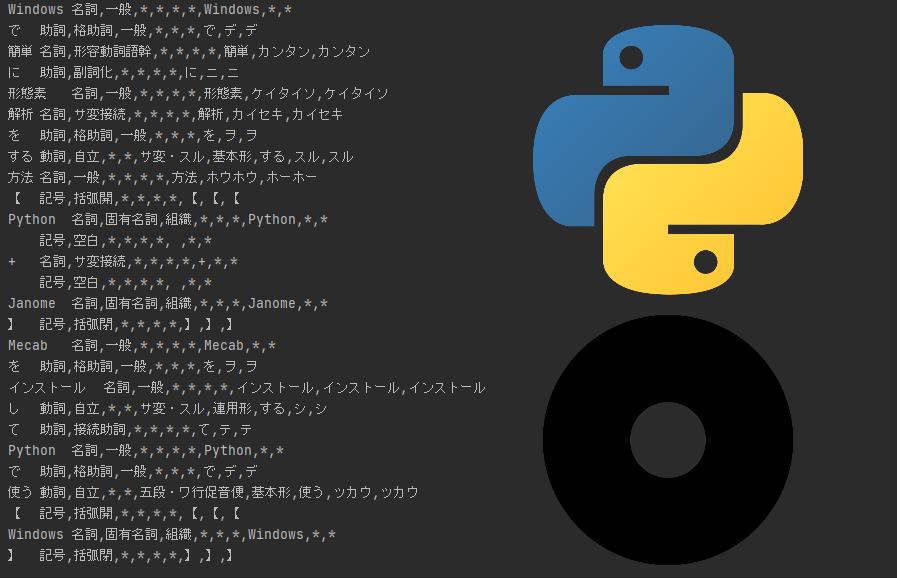 Windowsで簡単に形態素解析をする方法【Python + Janome】