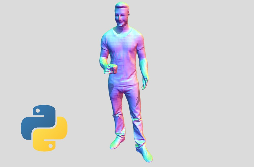 Pythonで写真の3D化が可能なPIFuHDをインストール