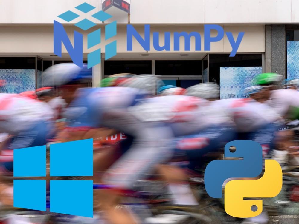 Numpyを高速化する最も簡単な方法【Python on Windows】